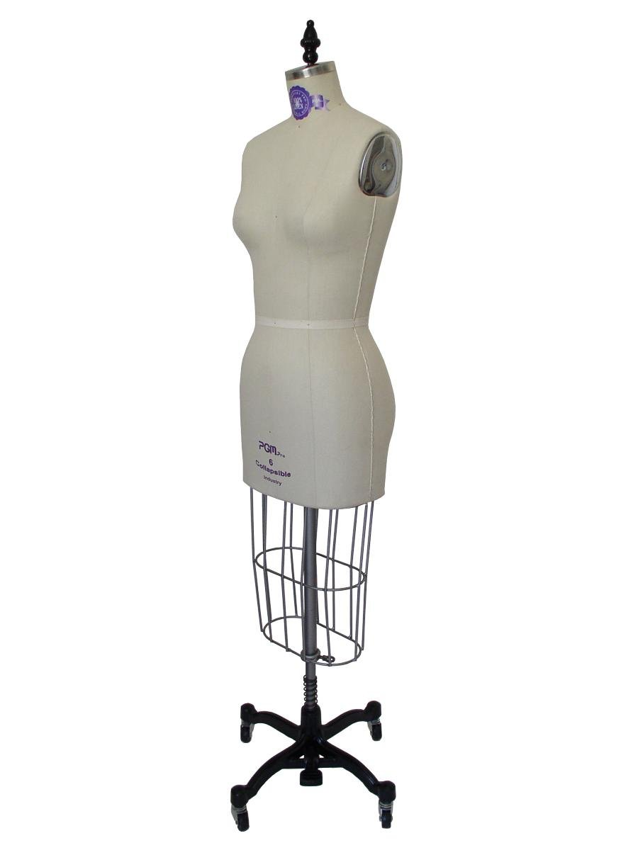 PGM Dress Form Professional Dressmaker with Hip Industry Pro with Collapsible Shoulder with 100/% Linen fabric for Pattern Making Draping for Fashion Design